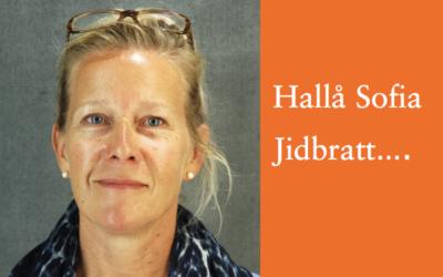 Tre frågor till Sofia Jidbratt