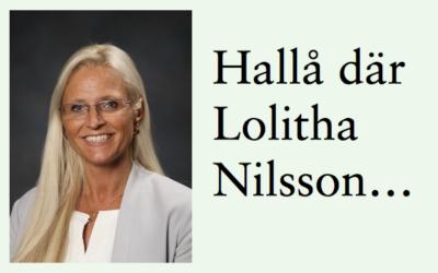 Två frågor till rektorn Lolitha Nilsson